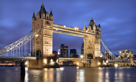 Eight-Day London and Paris Vacation with Airfare, Accommodations, and Sightseeing Bus Tickets...