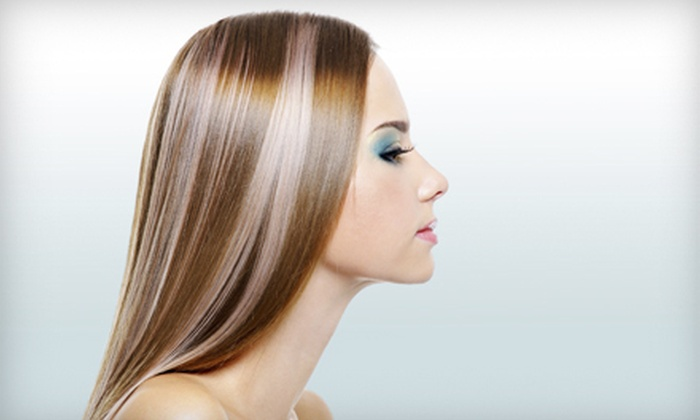 Beverly Hills Color Bar - Beverly Hills: Blowout with Partial Highlights or Color Touchup at Beverly Hills Color Bar (Up to 73% Off)