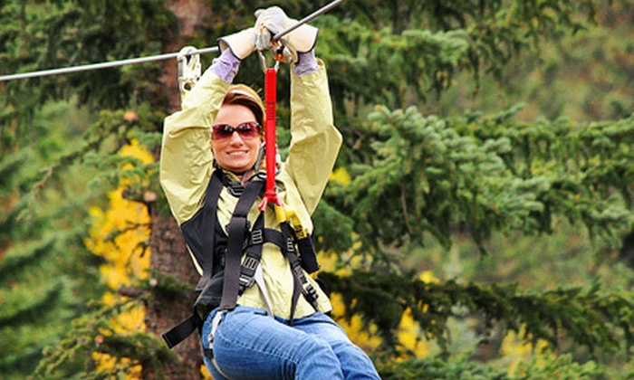Colorado Adventure Center - Golden Gate Canyon: Clear Creek Zipline Tour for One or Two at Colorado Adventure Center (38% Off)
