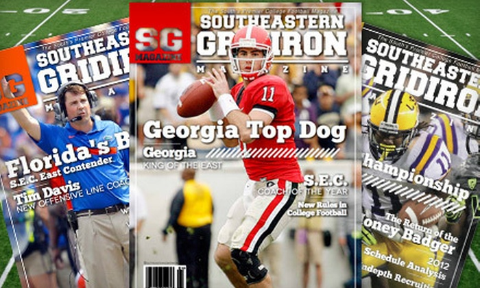 "Southeastern Gridiron Magazine - Atlanta: One-Year Silver or Gold or Two-Year Gold Subscription to ""Southeastern Gridiron Magazine"" (Up to 75% Off)"