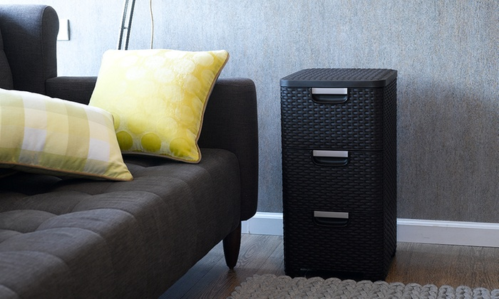 Curver Rattan-Effect Three-Drawer Cabinet With Free Delivery (£37.99)