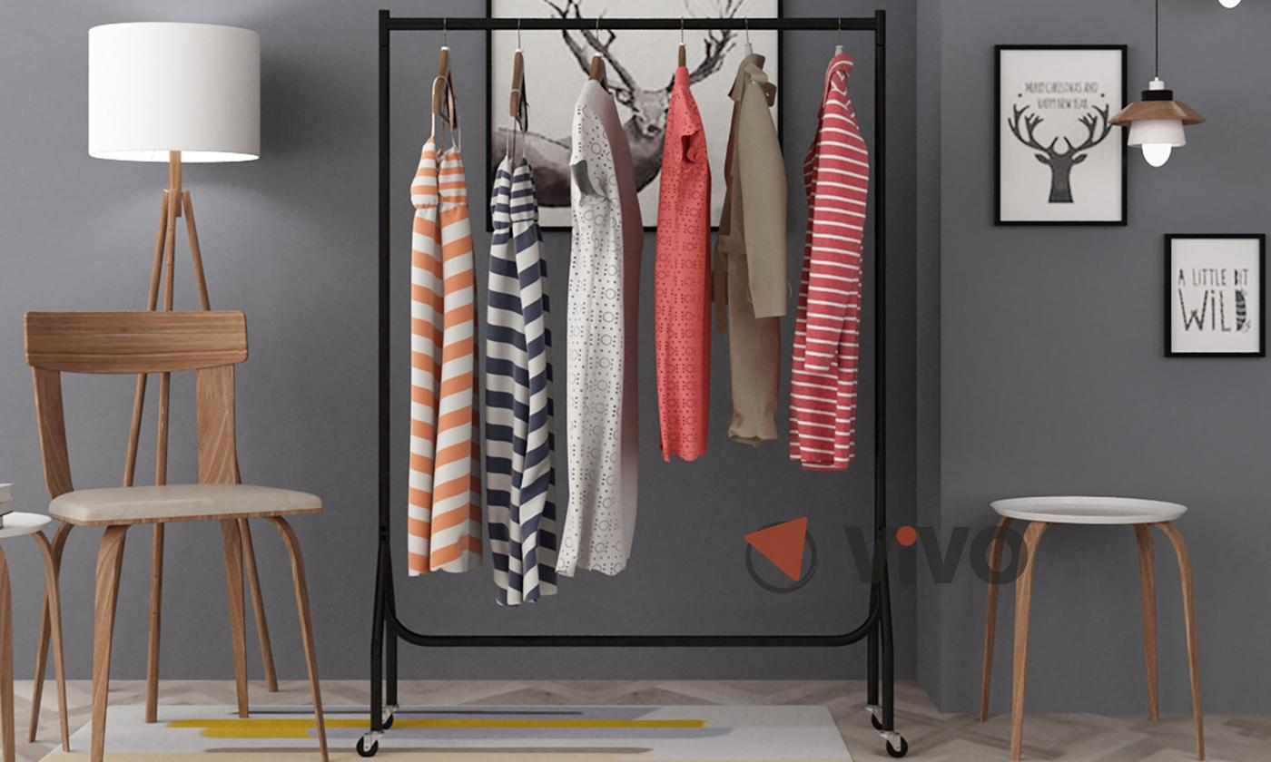 heavy-duty clothes hanging rack