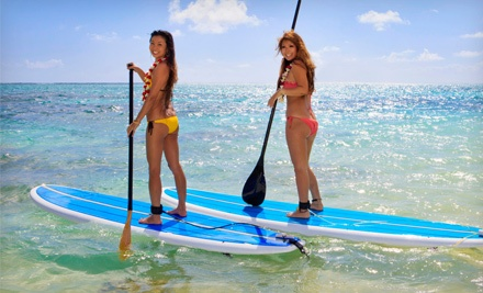 Standup-Paddleboard Rental or Lesson at UAO Stand Up Paddle Boarding (Up to 53% Off). Four Options Available.
