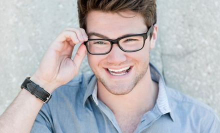 $150 Toward a Complete Pair of Eye Glasses with Option for Eye Exam (Up to 87% Off)
