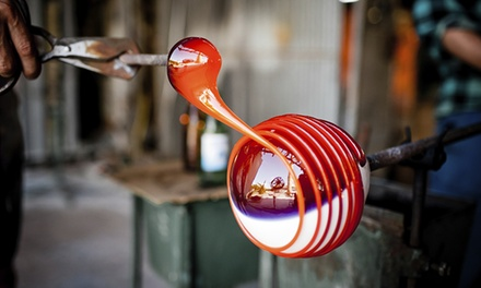 Pumpkin or Christmas Ornaments Glass-Blowing Class for One or Two at Shatter Glass Group (56% Off)