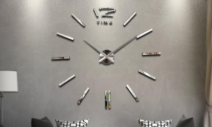 Large 3d Frameless Wall Clock Groupon