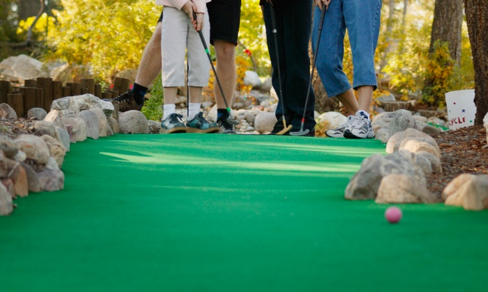 Golfland USA - Utica-Stanley: Two Groupons, Each Good for One Round of Mini Golf for Two or Four with Concession Credit at Golfland USA (Half Off)
