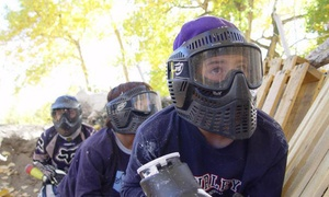 Paintball Adventures: All-Day Paintball for Two, Four, or Eight with Rental Gear and Paintballs at Paintball Adventures (Up to 66% Off)