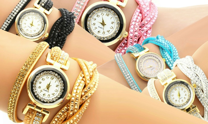 Think Global General Trading: Up to Five Women's Wrap-Around Watches from AED 49 (Up to 94% Off)