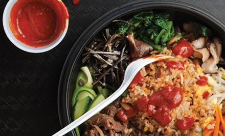 $10 for Two Groupons, Each Good for $10 Worth of Asian-Mexican Fusion Cuisine at Kimcheese ($20 Total Value)