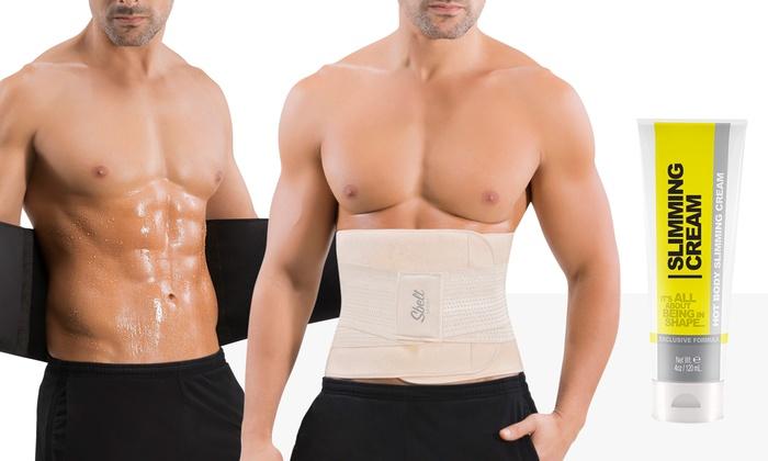 6249c1477b Men s Waist Trainer Sweat Belt with Toning Gel (4 Oz.)