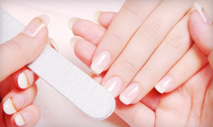 Trendy Nail Salon - Edison Park: One or Two Deluxe Mani-Pedis at Trendy Nail Salon (Up to 57% Off)