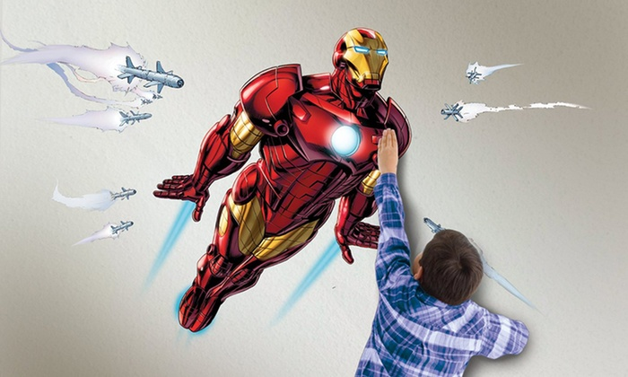 ... Wild Walls Full Power Aerial Pursuit Iron Man Wall Decal And Projector:  Wild Walls Full ... Part 33