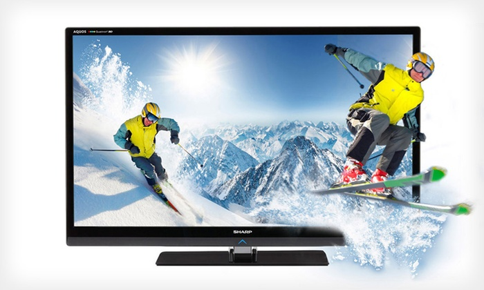 Sharp 40-Inch 1080p, Quattron, Smart, 240 Hz, 3D TV: $749 for a Sharp 40-Inch LED 3D TV ($1,599.99 List Price). Free Shipping.