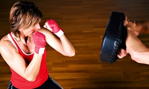 Shaku Family Martial Arts: Women's Kick-Boxing Classes at Shaku Family Martial Arts (Up to 86% Off). Three Options Available.
