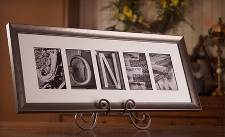 $59.99 for $139.99 Worth of Personalized and Framed Alphabet-Photography Keepsake Art from Sticks and Stones