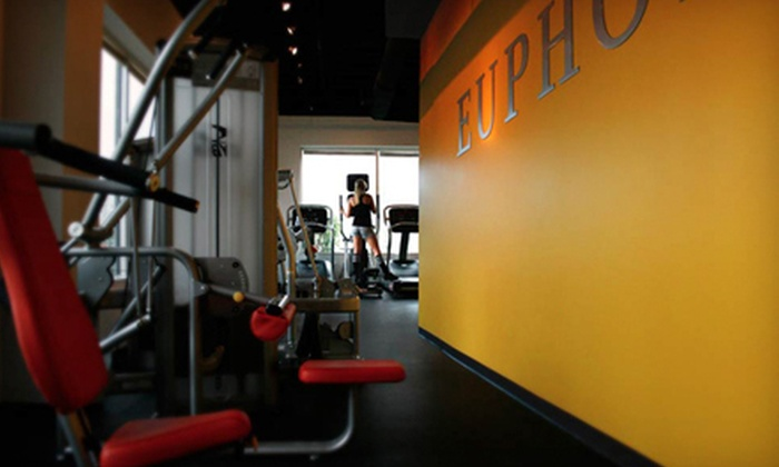 Euphoria Health and Fitness - Riverside: One-Year or Six-Month Membership with Gym Access, Massage, and Classes at Euphoria Health and Fitness (Up to 66% Off)