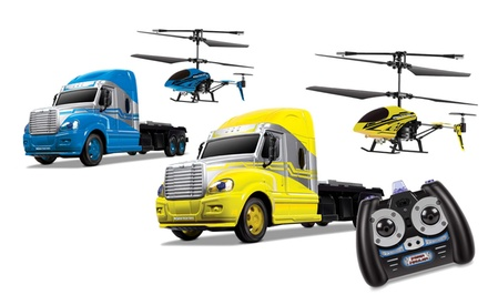 MegaHauler RC Helicopter and Truck Combo Pack