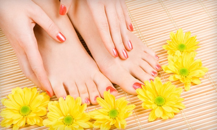 Essentials of Eton Street Nail Studio - Birmingham: One or Two Shellac Manicures with Basic Pedicures at Essentials of Eton Street Nail Studio in Birmingham (Up to 56% Off)