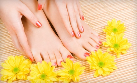 Shellac Manicure and Basic Pedicure (an $80 value) - Essentials of Eton Street Nail Studio in Birmingham