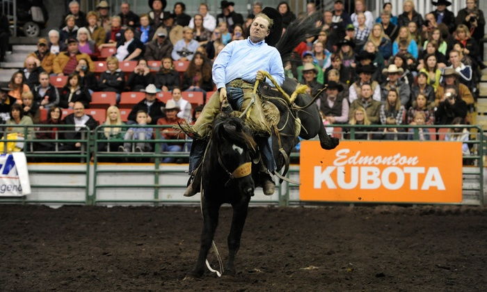 Heritage Ranch Rodeo - Northlands Park Racetrack and Casino: Heritage Ranch Rodeo for Two at Edmonton EXPO Centre on November 3 or 4 at 7 p.m. (Up to 51% Off)