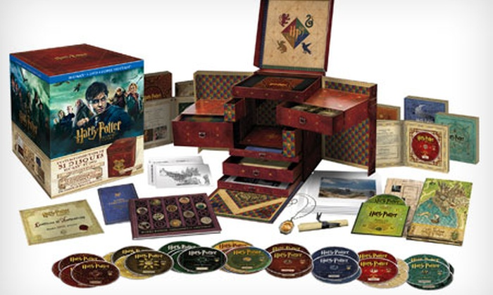 coffret dvd et blu ray int gral harry potter wizard 39 s collection groupon shopping. Black Bedroom Furniture Sets. Home Design Ideas