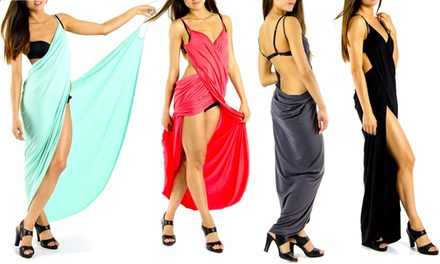Pareo Long Beach Wrap Dress in Choice of Colour for £11.99 (57% Off)