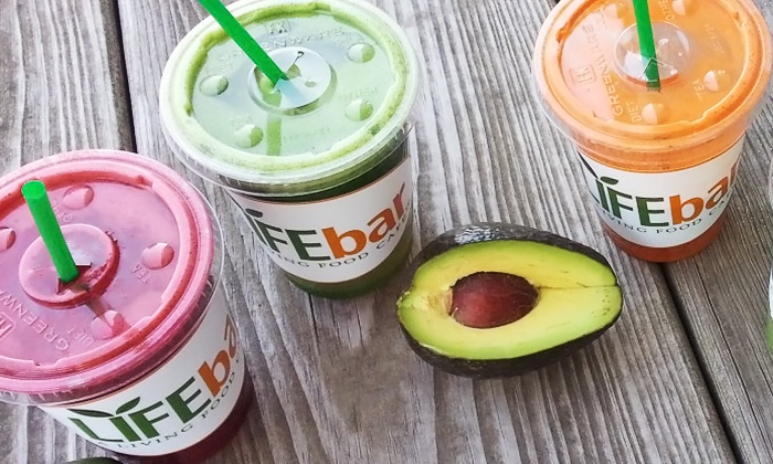 Life Bar - Inside Rainbow Blossom: Superfood Smoothies and Organic Juices at Life Bar (Up to 42% Off). Two Options Available.