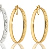 $11.99 for 18-Karat Gold- and Silver-Plated Hoops