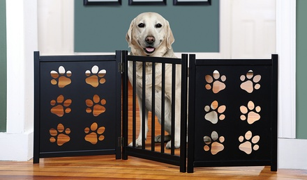 Adjustable Paw-Print Pet Gate