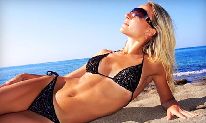 Sunless Kiss Tan - Wheaton: One or Three Custom Airbrush Spray Tans at Sunless Kiss Tan (51% Off)