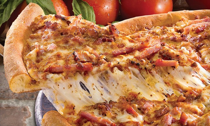 Papa John's - Multiple Locations: $14.99 for Two Large Three-Topping Pizzas at Papa John's ($32.98 Value)