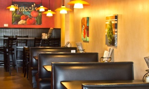 Brucci's: $11 for $20 Worth of Pizza, Pasta, and Casual Italian Eats at Brucci's Pizza