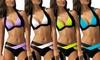 Bikini Léana bicolore, plusieurs tailles et coloris au choix à 19,90€ (49% de réduction)