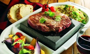 Steakhouse: Volcanic Rock Steak Meal With Wine from £9 at Steakhouse (Up to 53% Off)