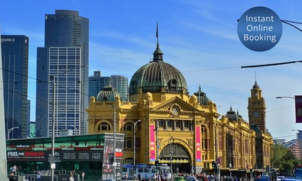 Melbourne: 1 to 3 Nights for Two with Wine, Mezze Platter, Late Check-Out and Fitness Centre Access at 4.5* Jasper Hotel
