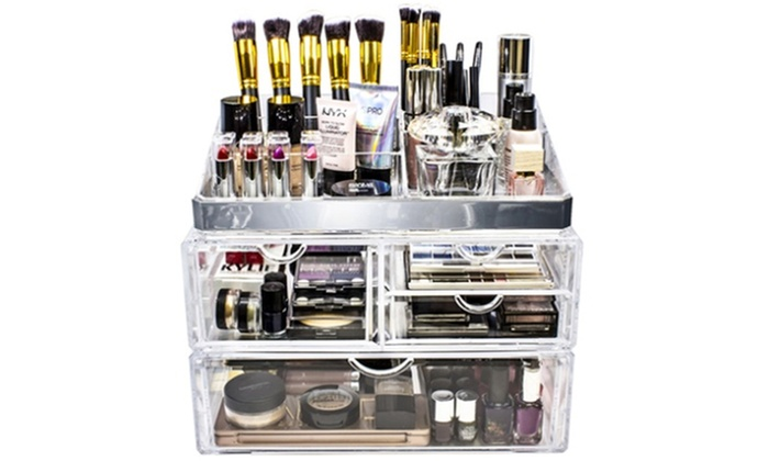 62 Off On Sorbus Makeup Storage Case Livingsocial Shop