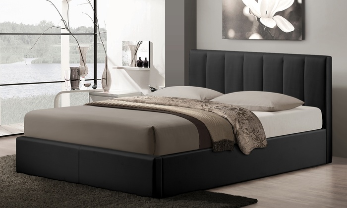 Porter queen size storage bed groupon goods for Beds groupon