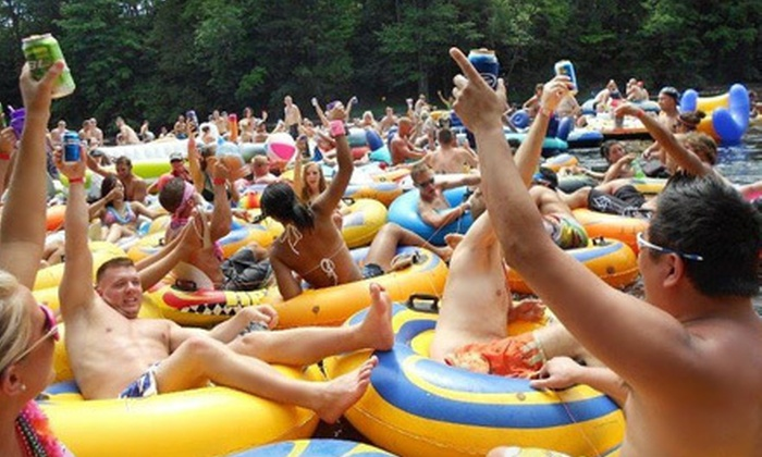 Boobs & Tubes - Multiple Locations: Up to 60% Off Tubing Excursion and Barbecue