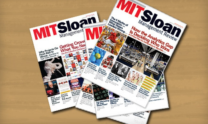 """MIT Sloan Management Review"": $39 for a One-Year Standard Subscription to ""MIT Sloan Management Review"" Magazine and Website ($69 Value)"