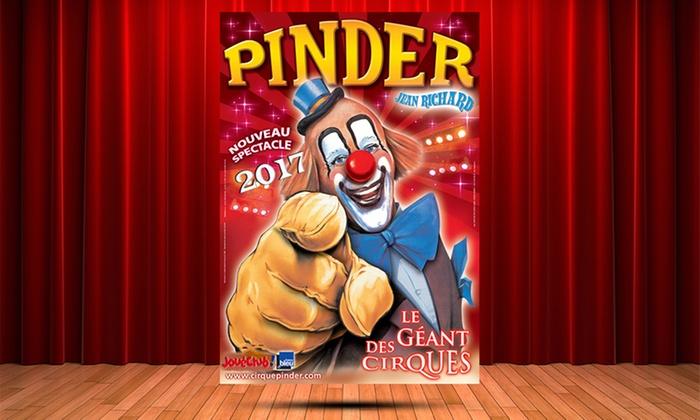 1 place orchestre pour le cirque Pinder, date et heure au choix, à 15 € à Angers