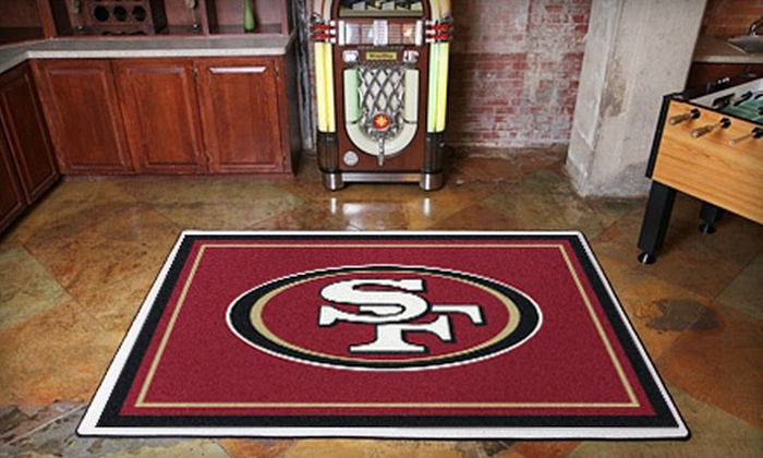 My Sports Rug: San Francisco 49ers Rugs from My Sports Rug (Up to 54% Off). Two Options Available.