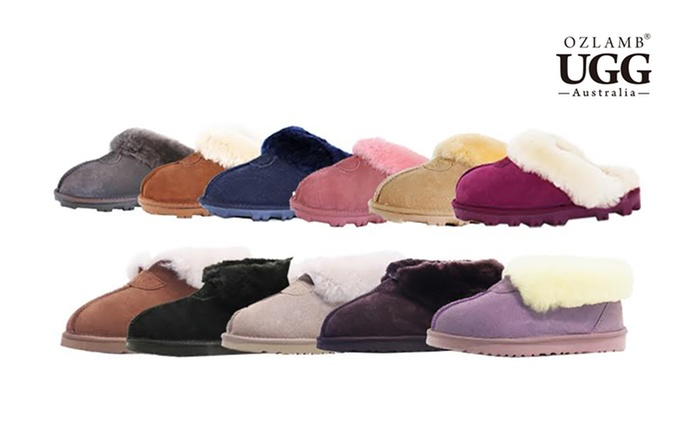 Ozlamb UGG Premium Scuffs ($45) or Premium Indoor Boots ($49) in Choice of Colour (Don't Pay up to $148.93)