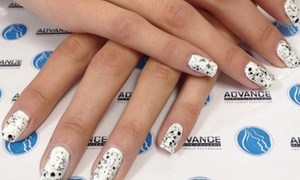 Advance Beauty College: One Gel Manicure with Pedicure, or Three Gel Manicures at Advance Beauty College (Up to 40% Off)