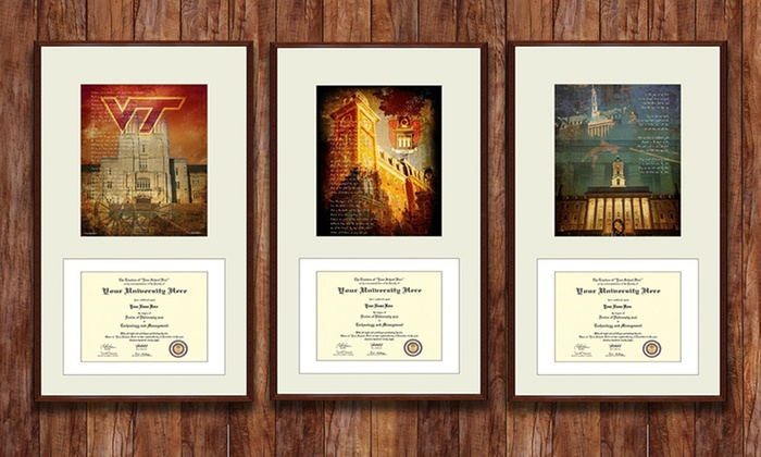85 x 11 or 11 x 14 college diploma frames with