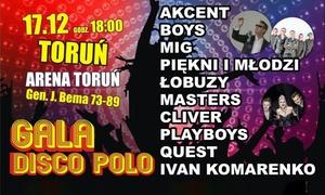 Gala Disco Polo: 119,99 zł: bilet dla 2 osób na II Galę Disco Polo i więcej opcji w Hali Arena Toruń