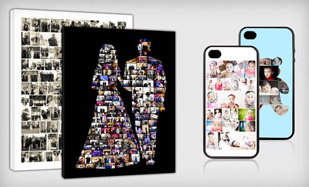 Custom Photo-Collage Phone Case, Canvas, or Fleece Blanket from Collage.com (Up to 62% Off). Free Shipping.