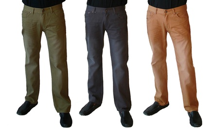 Red Snap Men's Slim Fit Twill Pants. Multiple Colors Available. Free Returns.