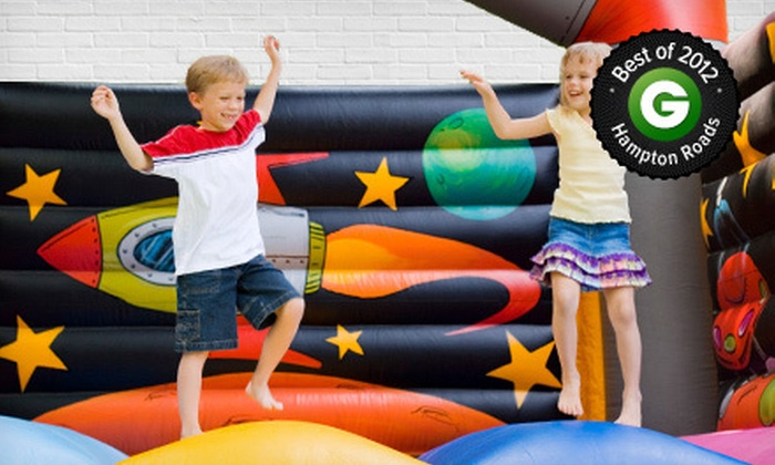 Bounce House - Multiple Locations: $16 for Four All-Day Play Passes, Four Sodas, and Four Bags of Chips at Bounce House (Up to $56 Value)
