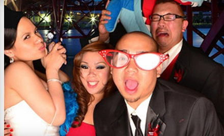 Three- or Four-Hour Photo-Booth Rental with Digital Images from In-a-Flash Photobooths (Up to 75% Off)